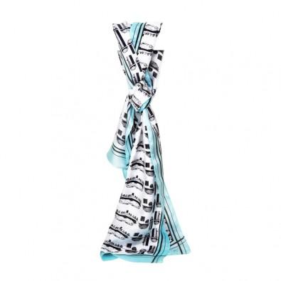 Aqua-Blue-Car-Silk-Printed-Scarf-Primary