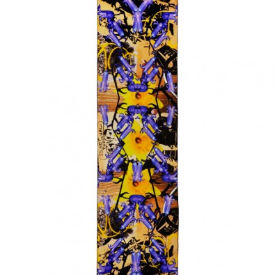 Ladies Luxury Silk Scarf; Bluebells and Graffiti
