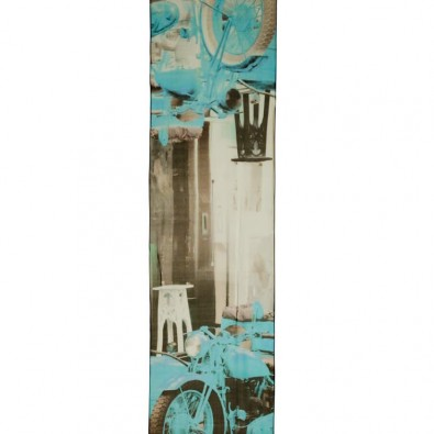 Luxurious Silk Scarf Aqua Tel Aviv Vintage Motorbike