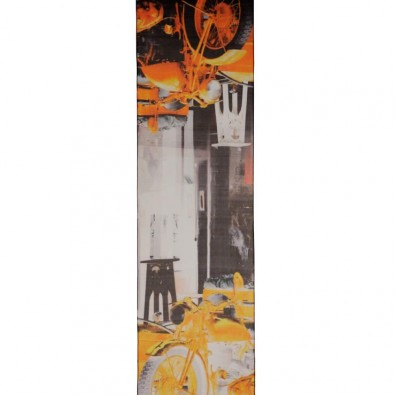 Luxury Silk Scarf Orange Tel Aviv Vintage Motorbike