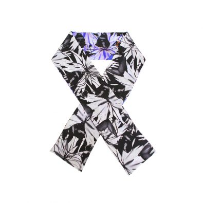 ButtnBee Luxury Silk Skinny Scarf; Mono