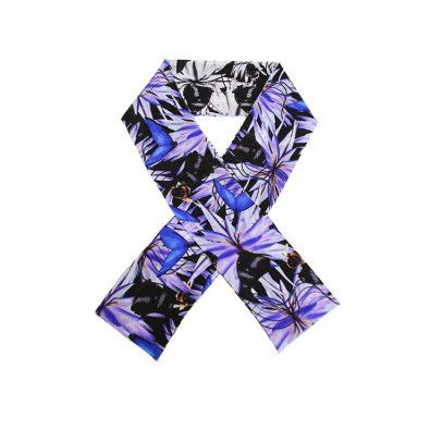 ButtnBee Luxury Silk Skinny Scarf; Purple Haze